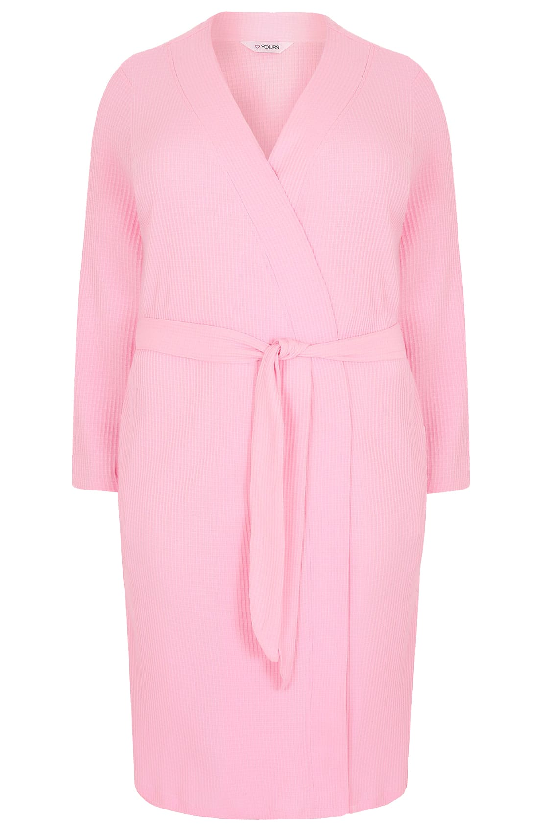 1f10e68e67d Pink Textured Cotton Dressing Gown