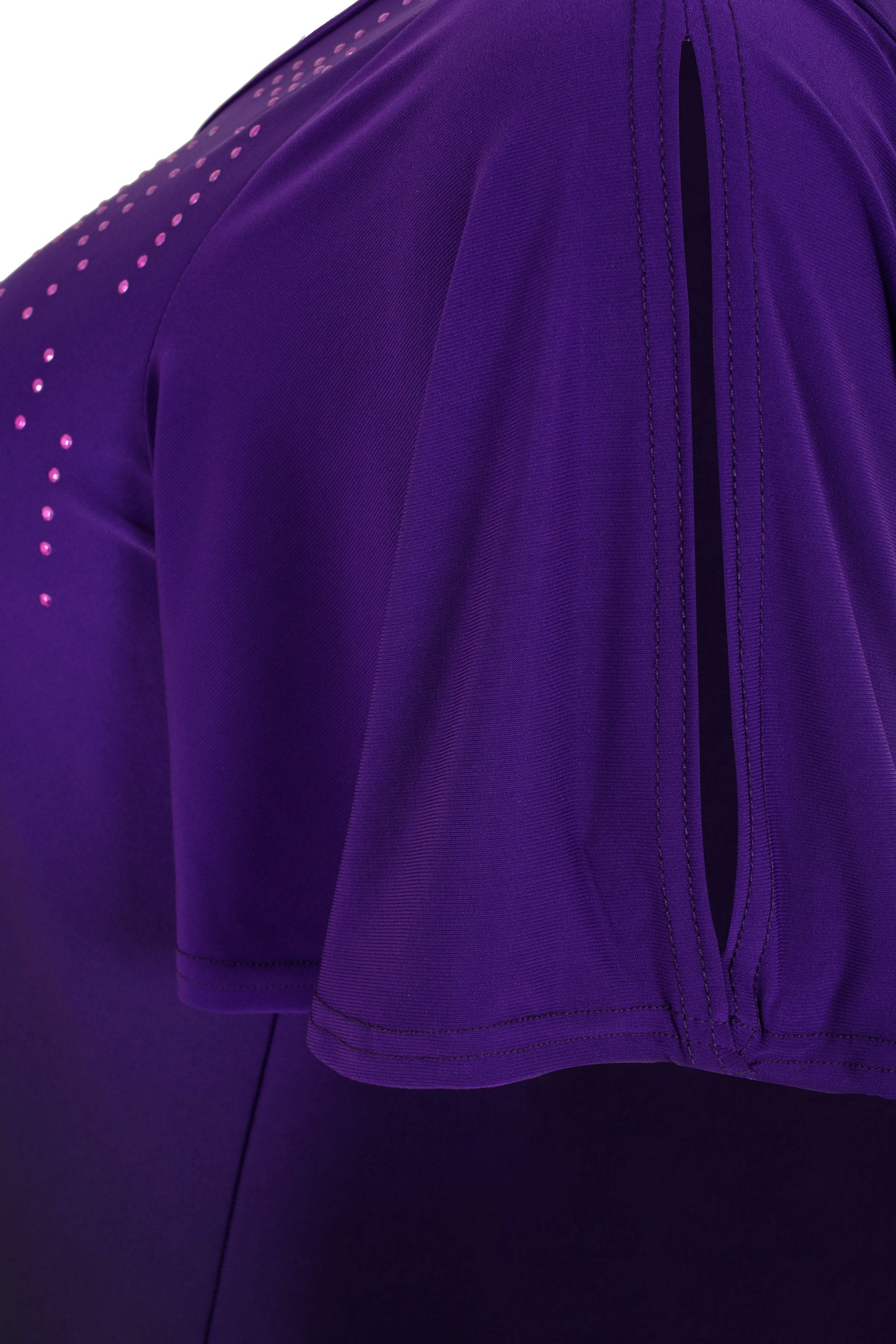 purple ombre longline top with stud details hanky hem plus size 16 to 36. Black Bedroom Furniture Sets. Home Design Ideas