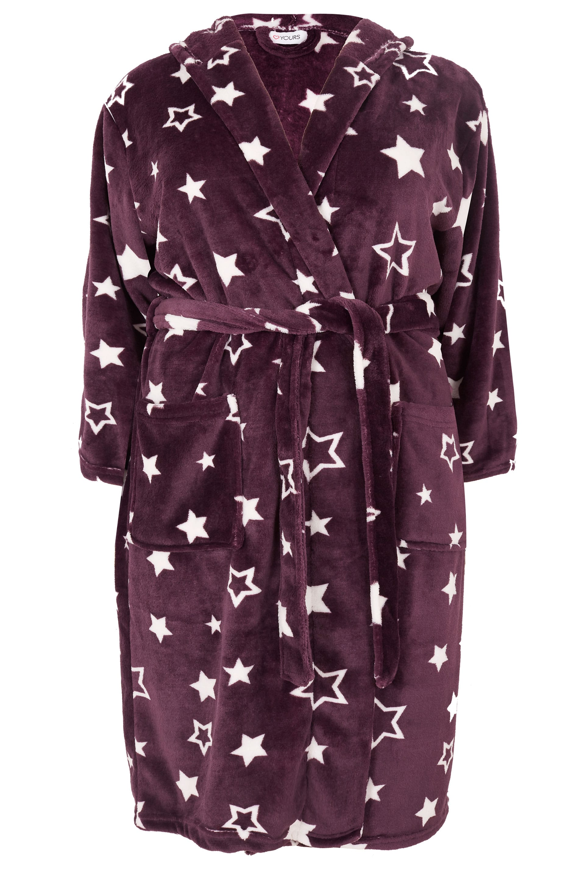 Purple Star Dressing Gown, Plus size 16 to 40