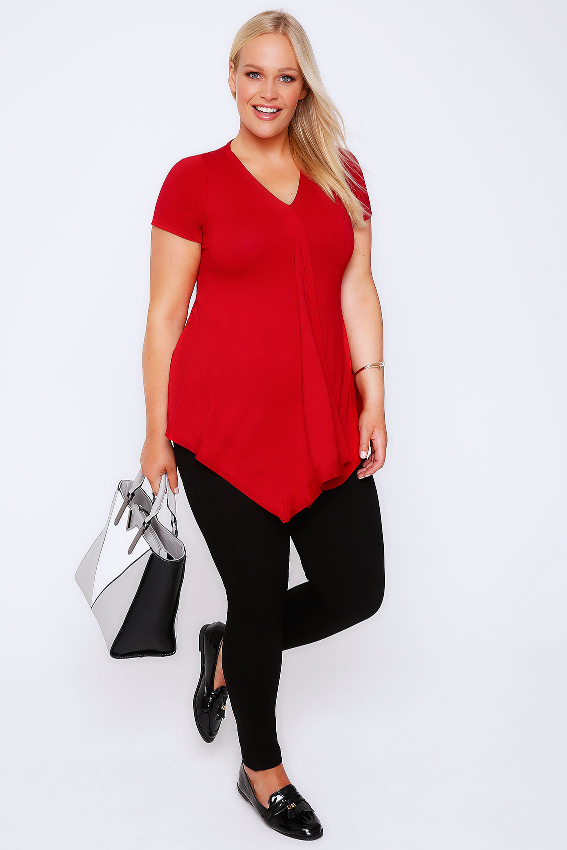 tied back top red jersey drape front top with tie back plus size 16 to 36 2282