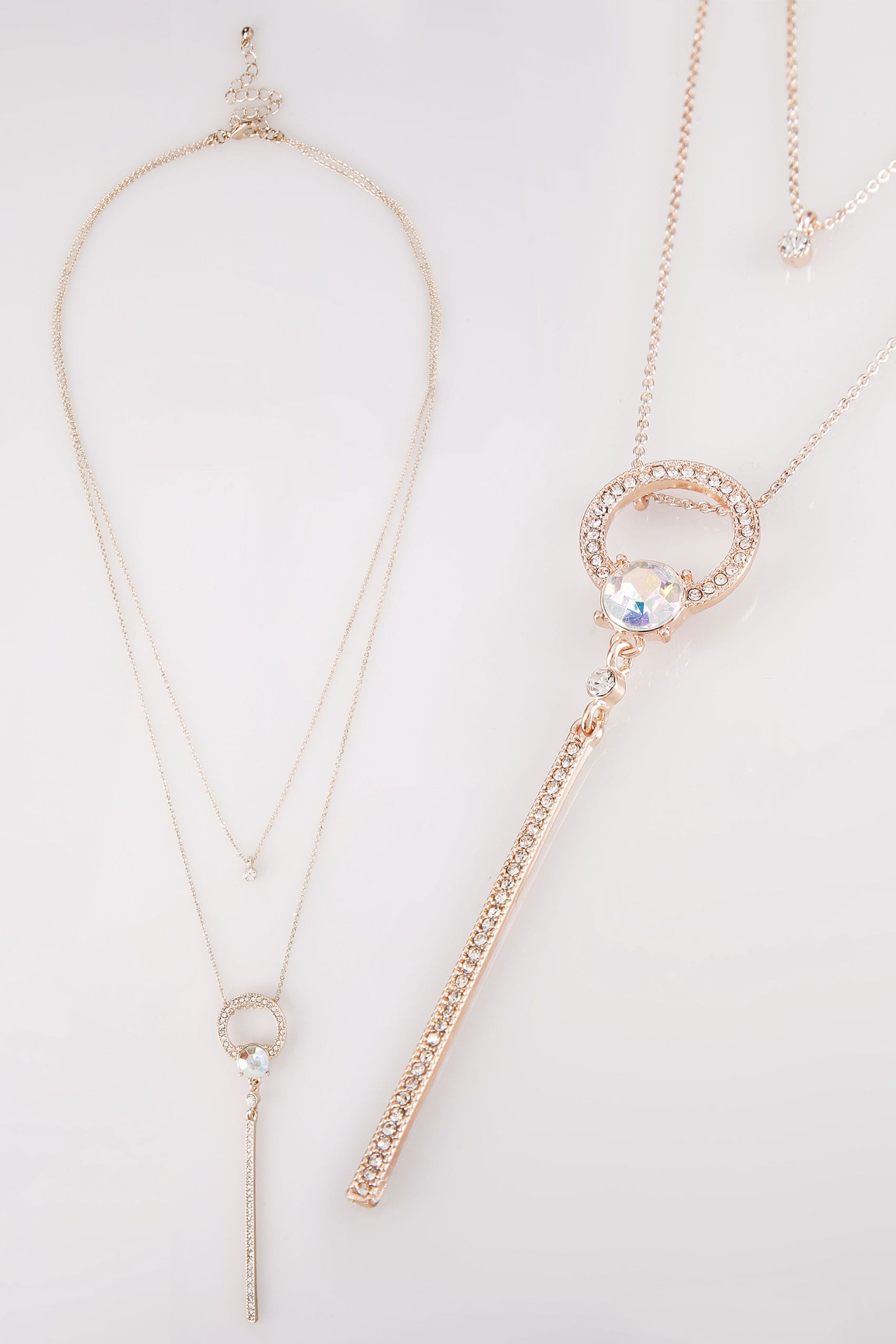 dots stardust uk rose layered gold double image necklace solid scattered