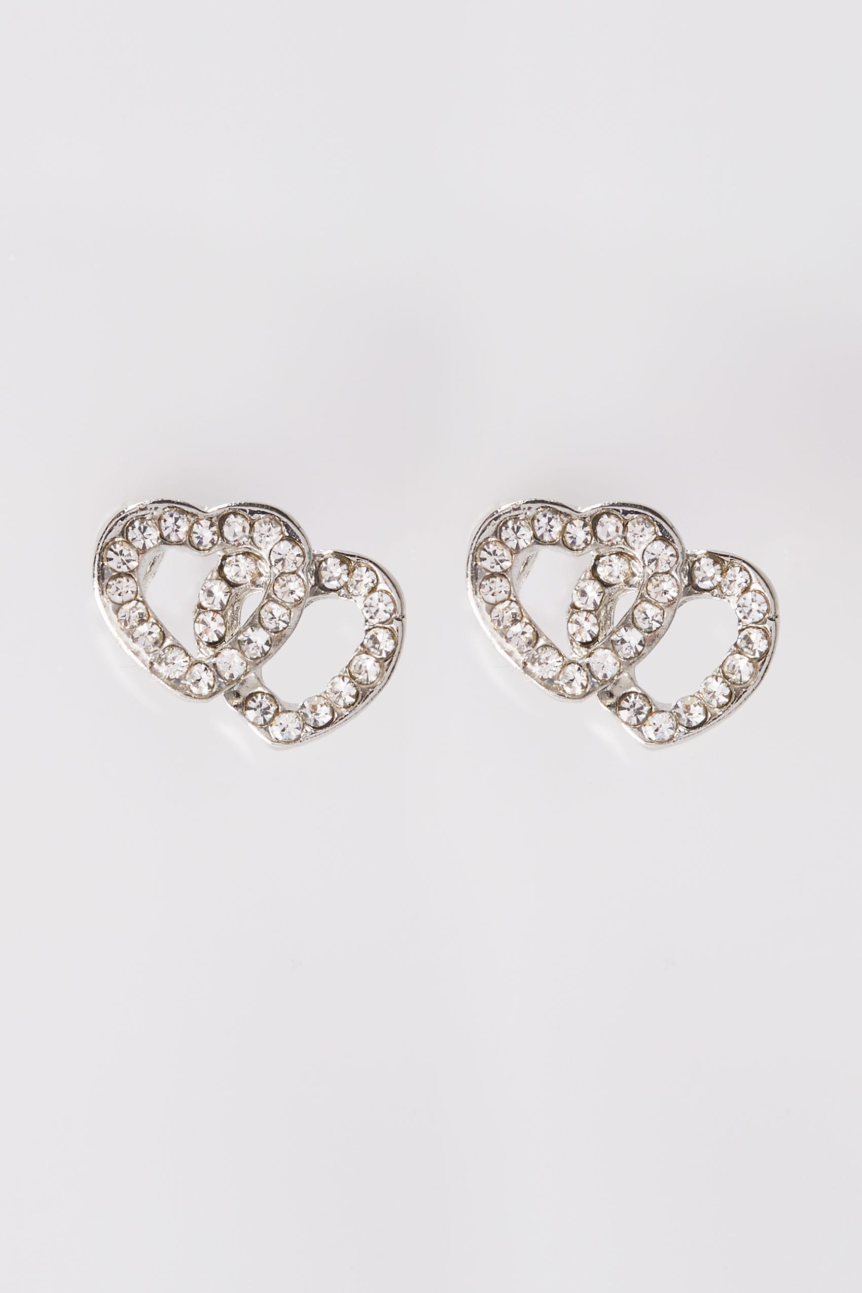 pair product a heart zirconia earrings loopy stud shaped cubic with of