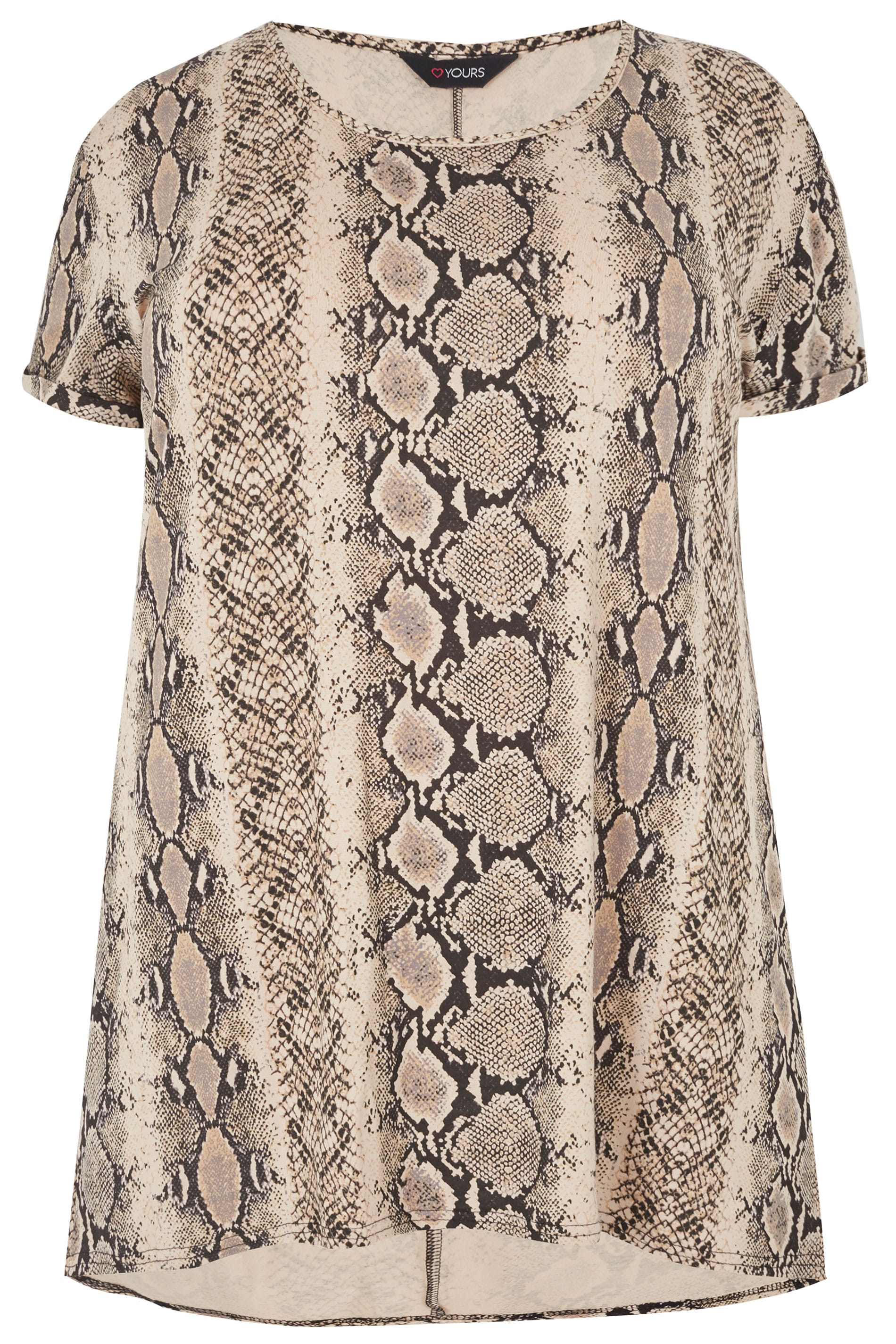 e35d8e398 Tan Snake Print T-Shirt, Plus size 16 to 36