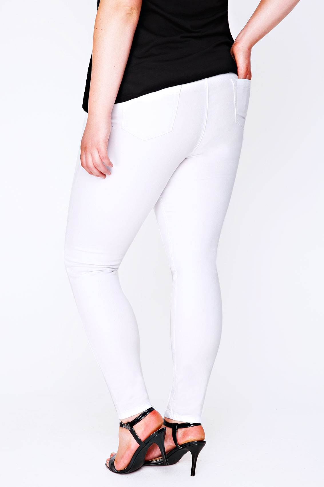 Plus size grey essential tummy shaper jegging