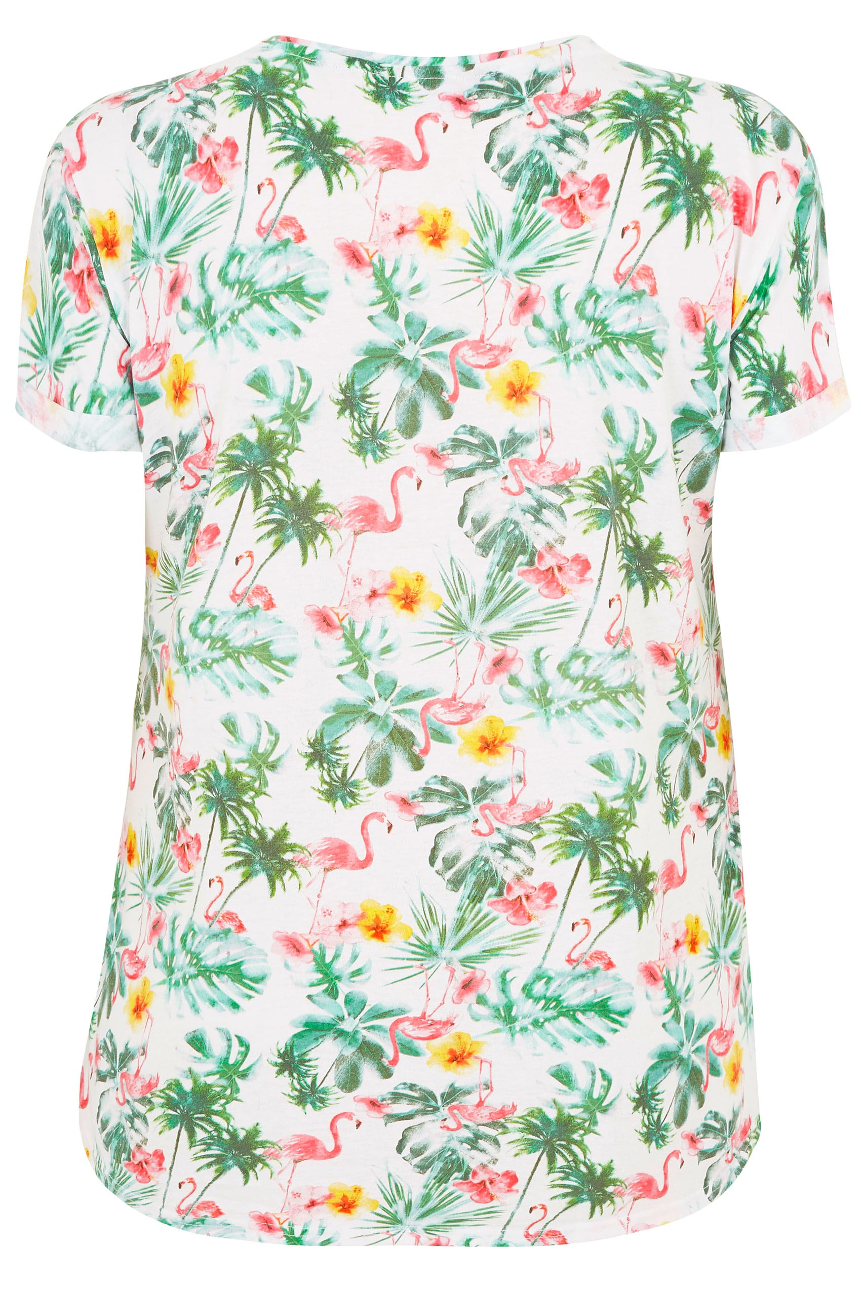4096b70d8a3 White   Green Tropical Floral Pocket T-Shirt