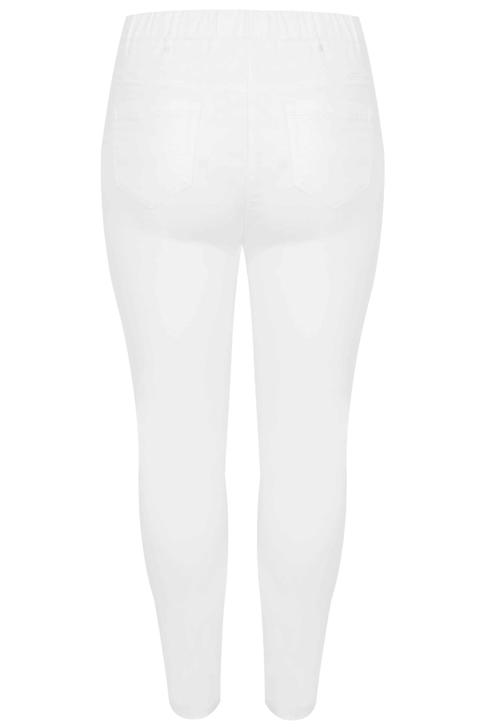 White Pull On Jenny Jeggings , Plus Size 16 To 36-4598