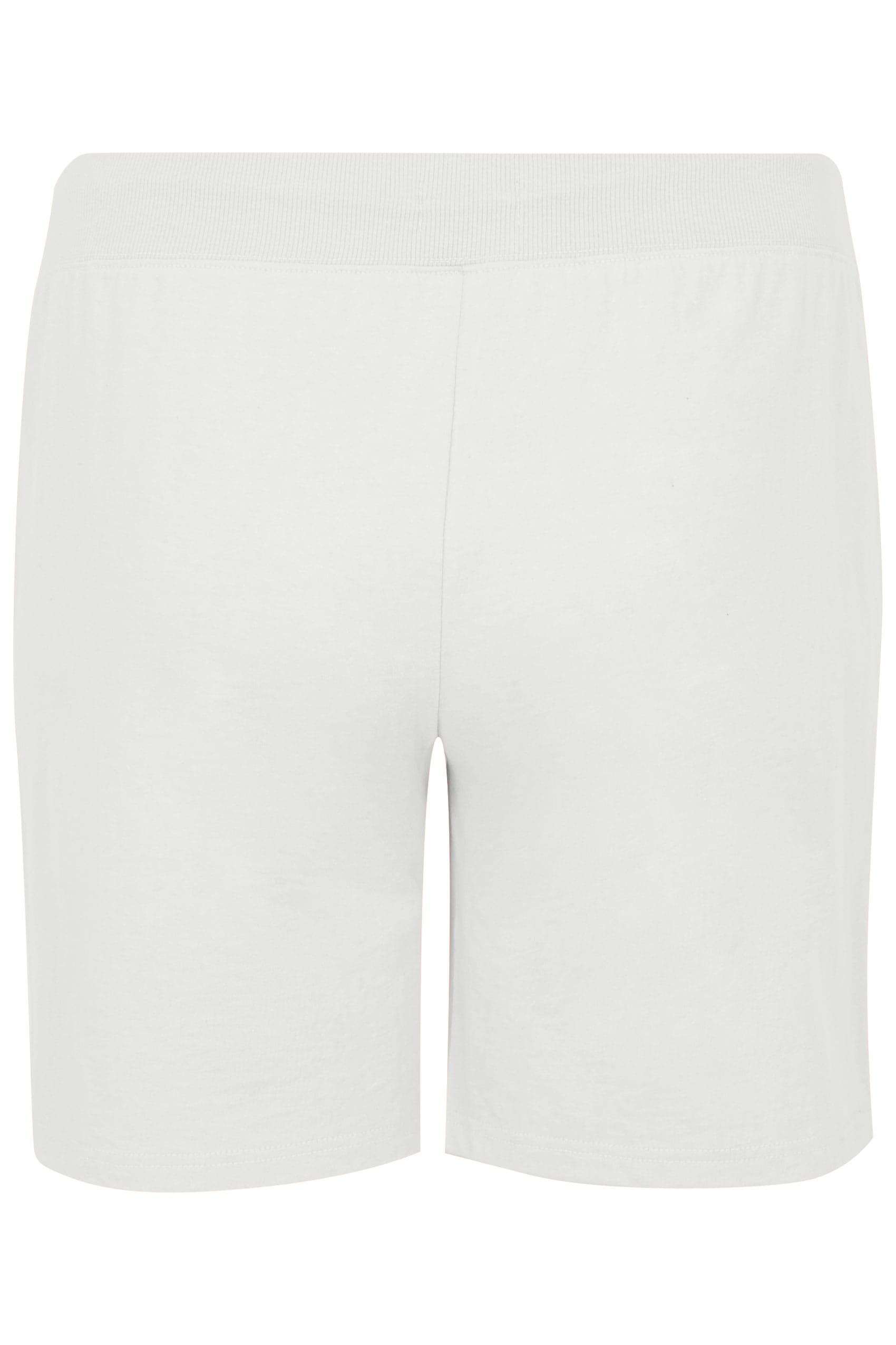 how to head a letter white jersey shorts with elasticated waistband plus size 40372