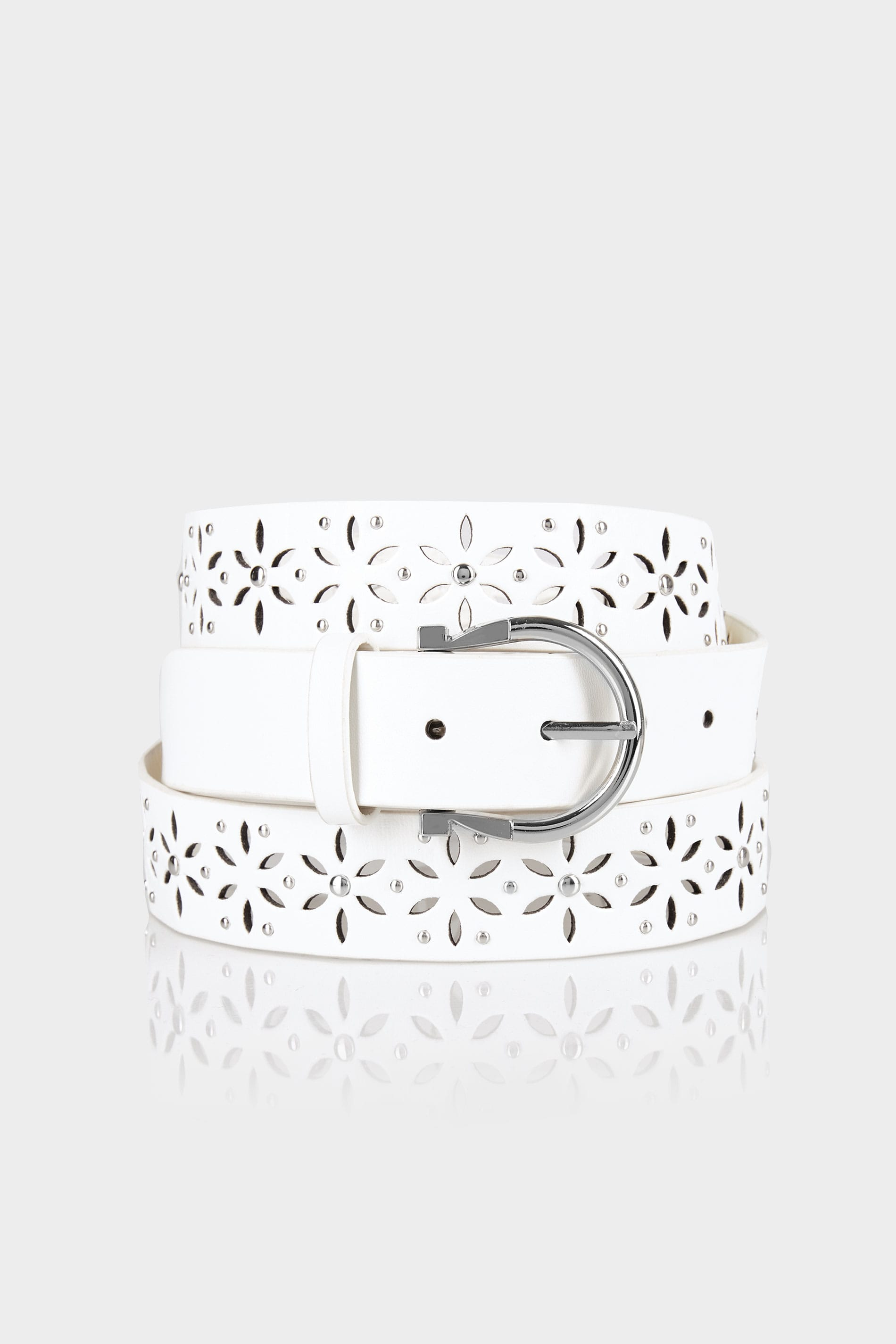 Witte riem met uitgesneden details studs maten 44 60 for Online store terms and conditions template
