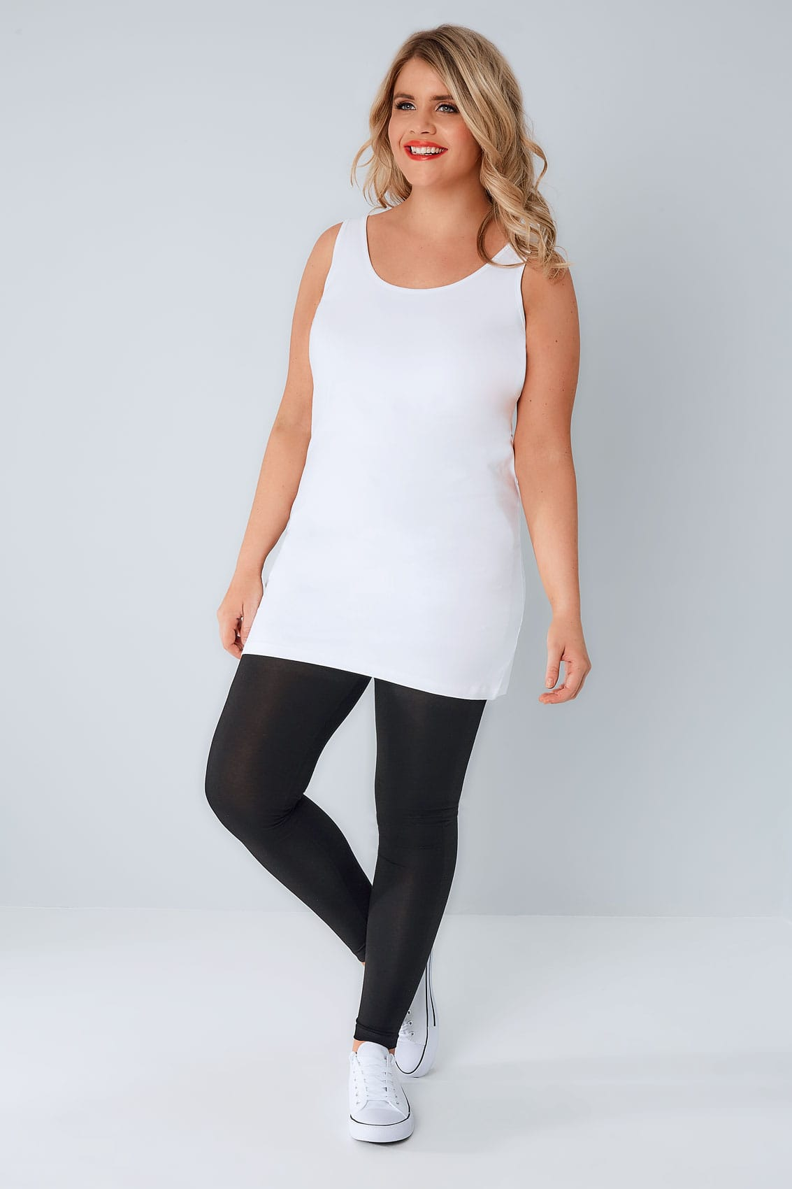 white longline vest top  plus size 16 to 36