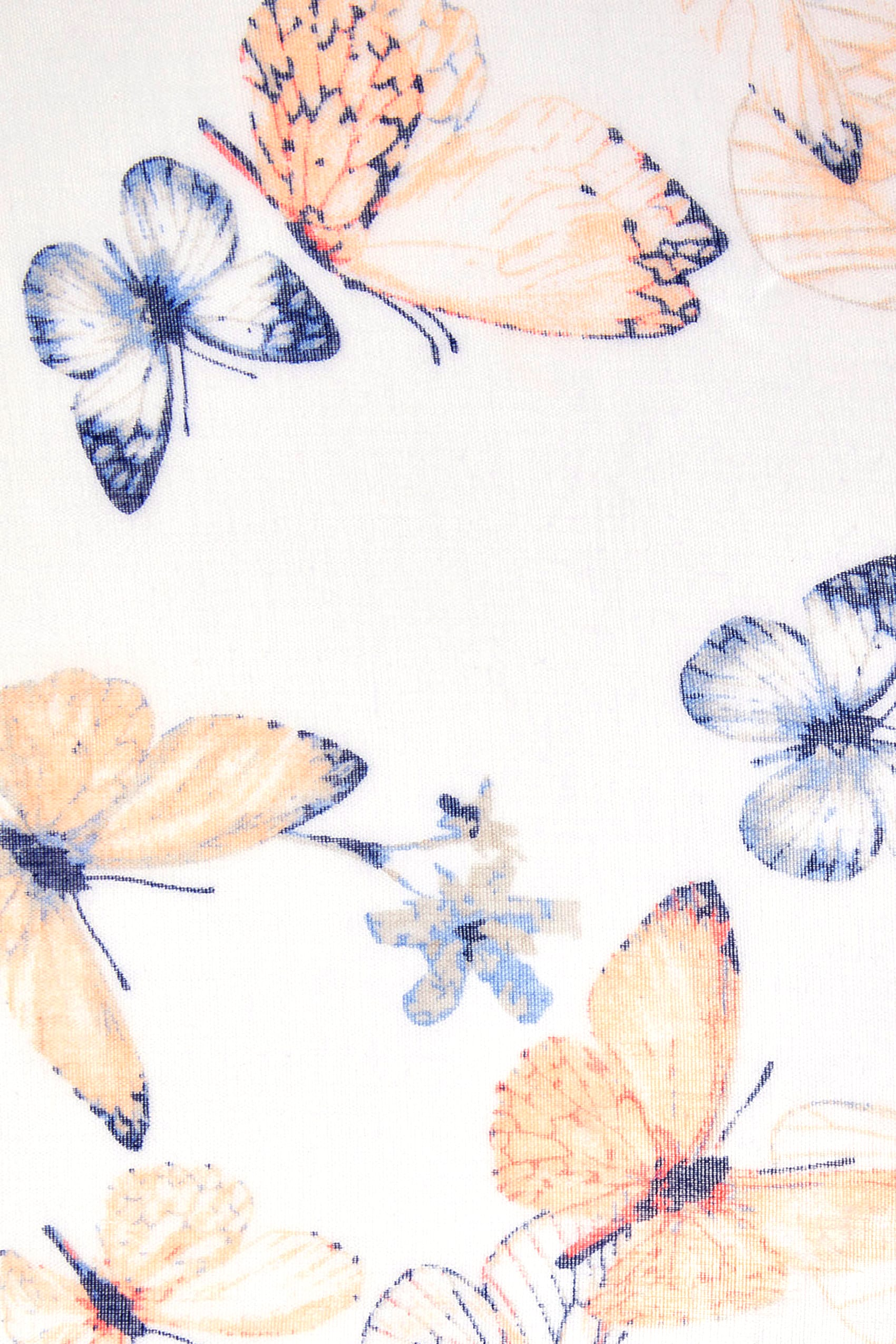 White multi butterfly print scarf for Buy here pay later