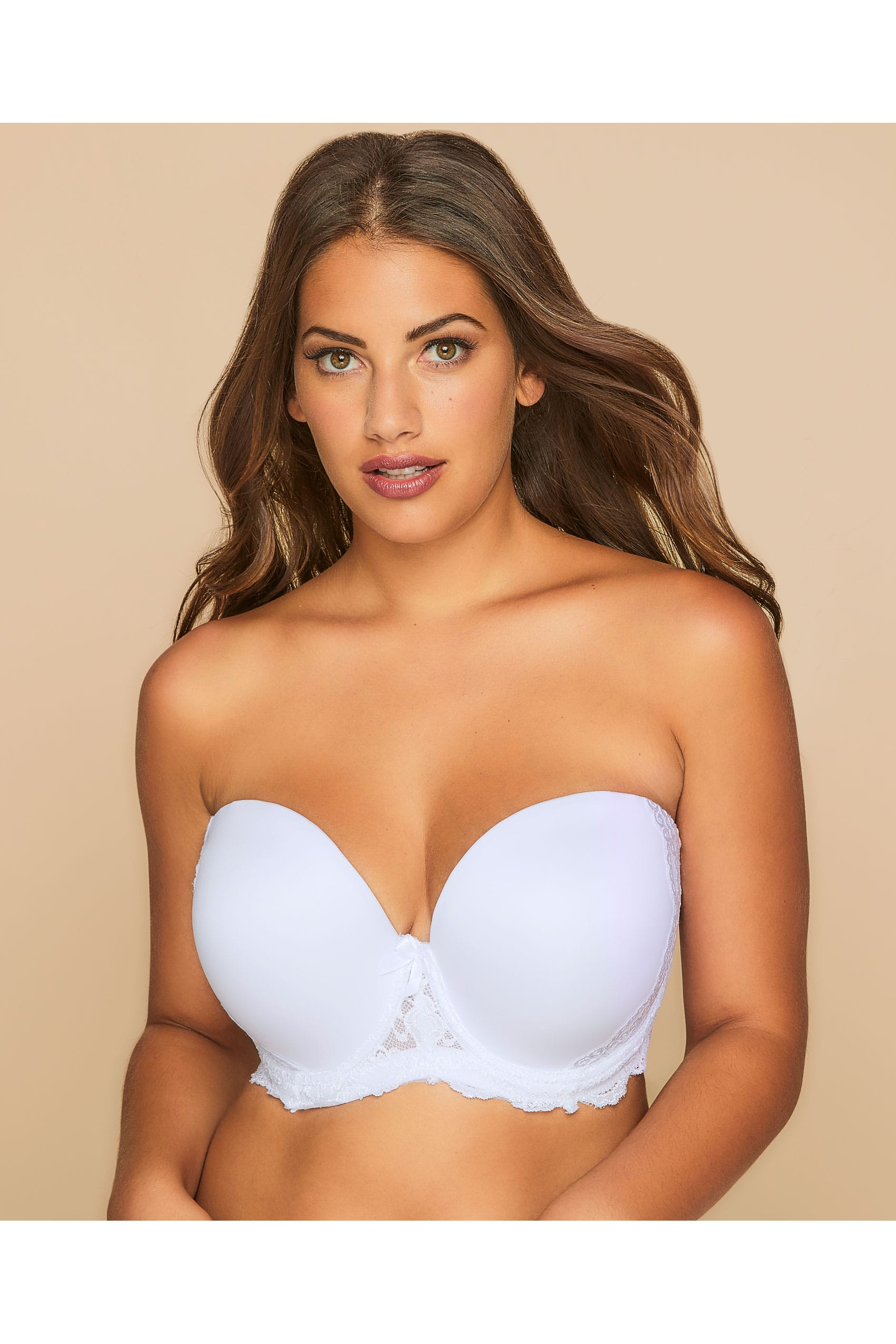 c9b3324634 White Multiway Microfibre Lace Bra With Removable Straps