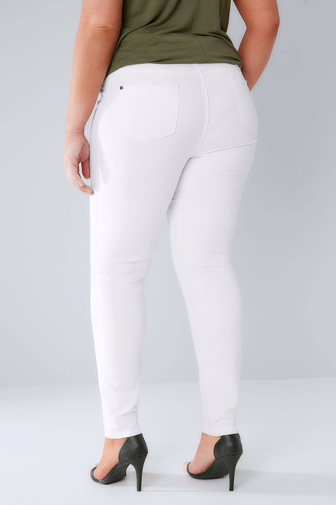 Shop Slimming Stretch Jegging in White and discover comfortable and stylish women's pants and trousers at an affordable price today. Order online or call: