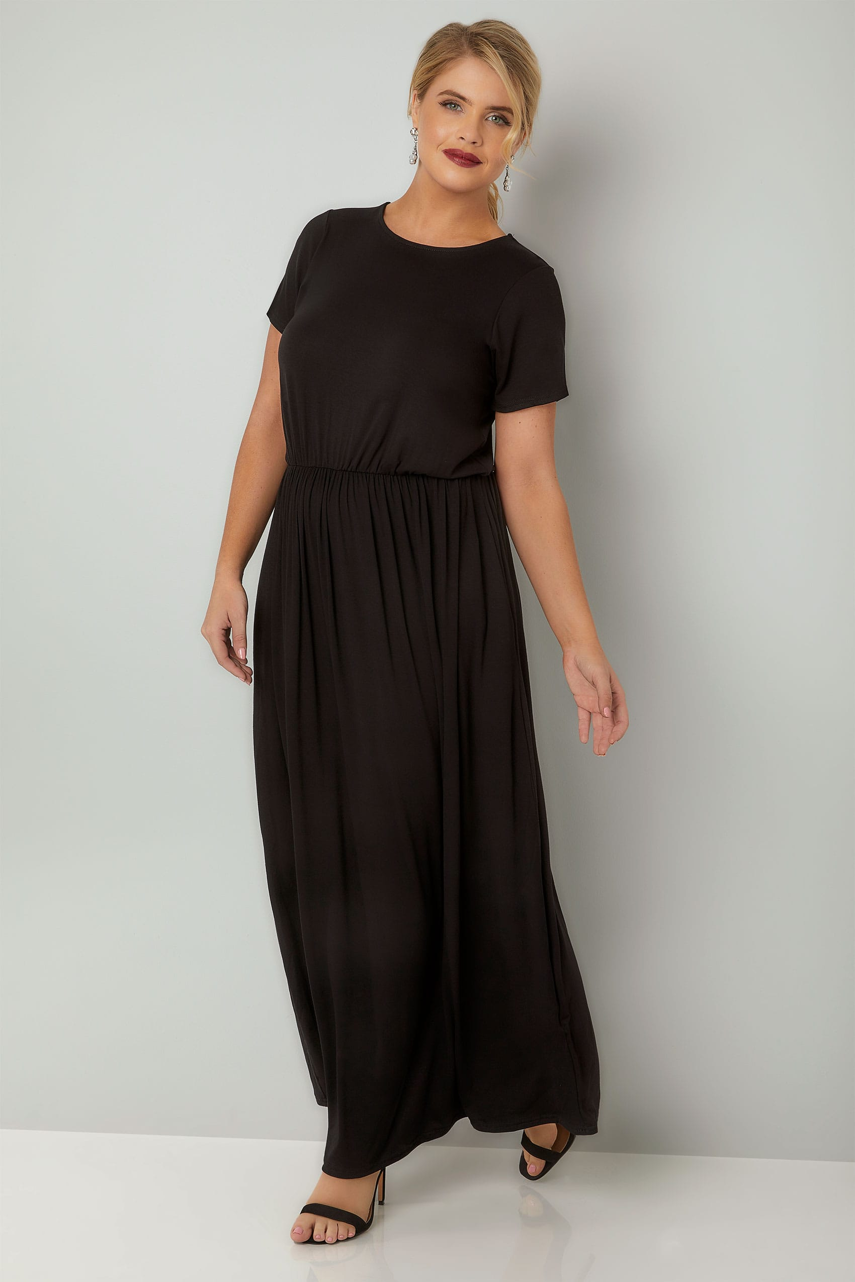 085798f5ba2 Plus Size Maxi Dresses YOURS LONDON Black Maxi Dress With Elasticated Waist