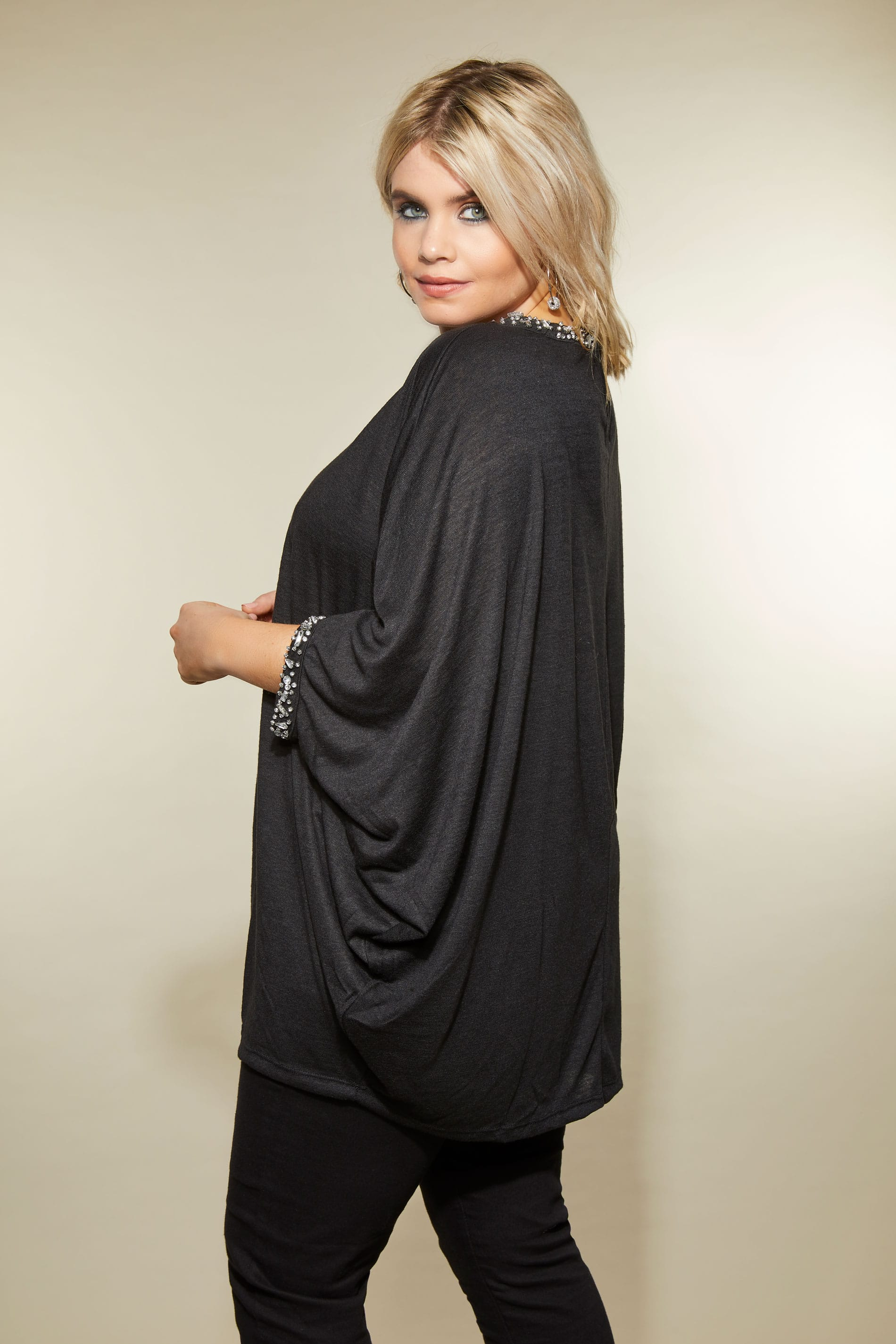 Yours london black diamante cape top plus size 16 to 32 - Best shows to see in london ...