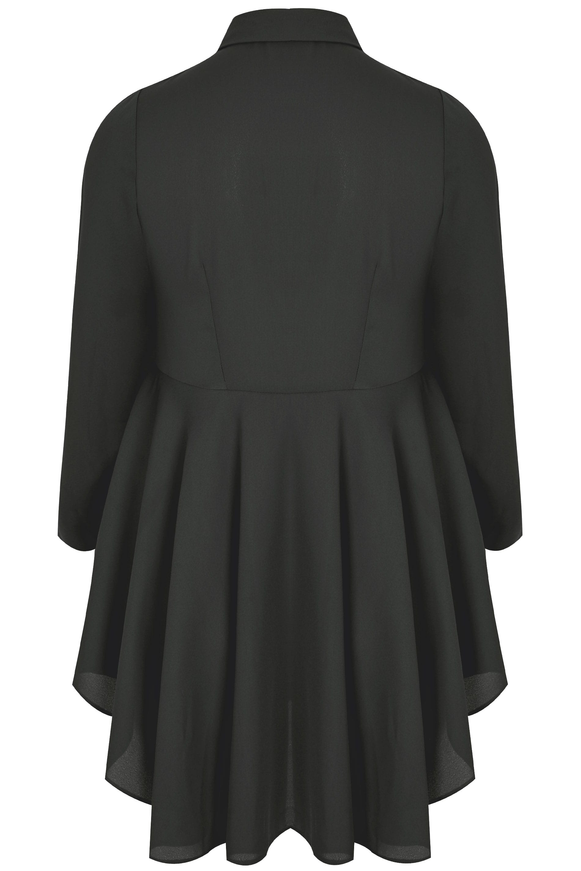 0a037bc8 YOURS LONDON Black Ruffle Shirt, Plus size 16 to 32