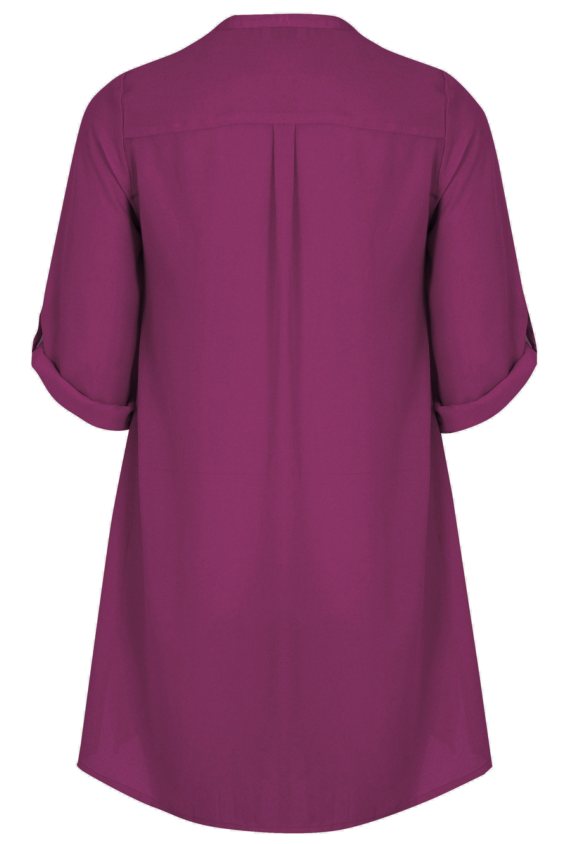 how to fill out a letter yours purple chiffon blouse with satin trim plus 22295 | YOURS LONDON Purple Chiffon Blouse With Satin Trim 156564 2042