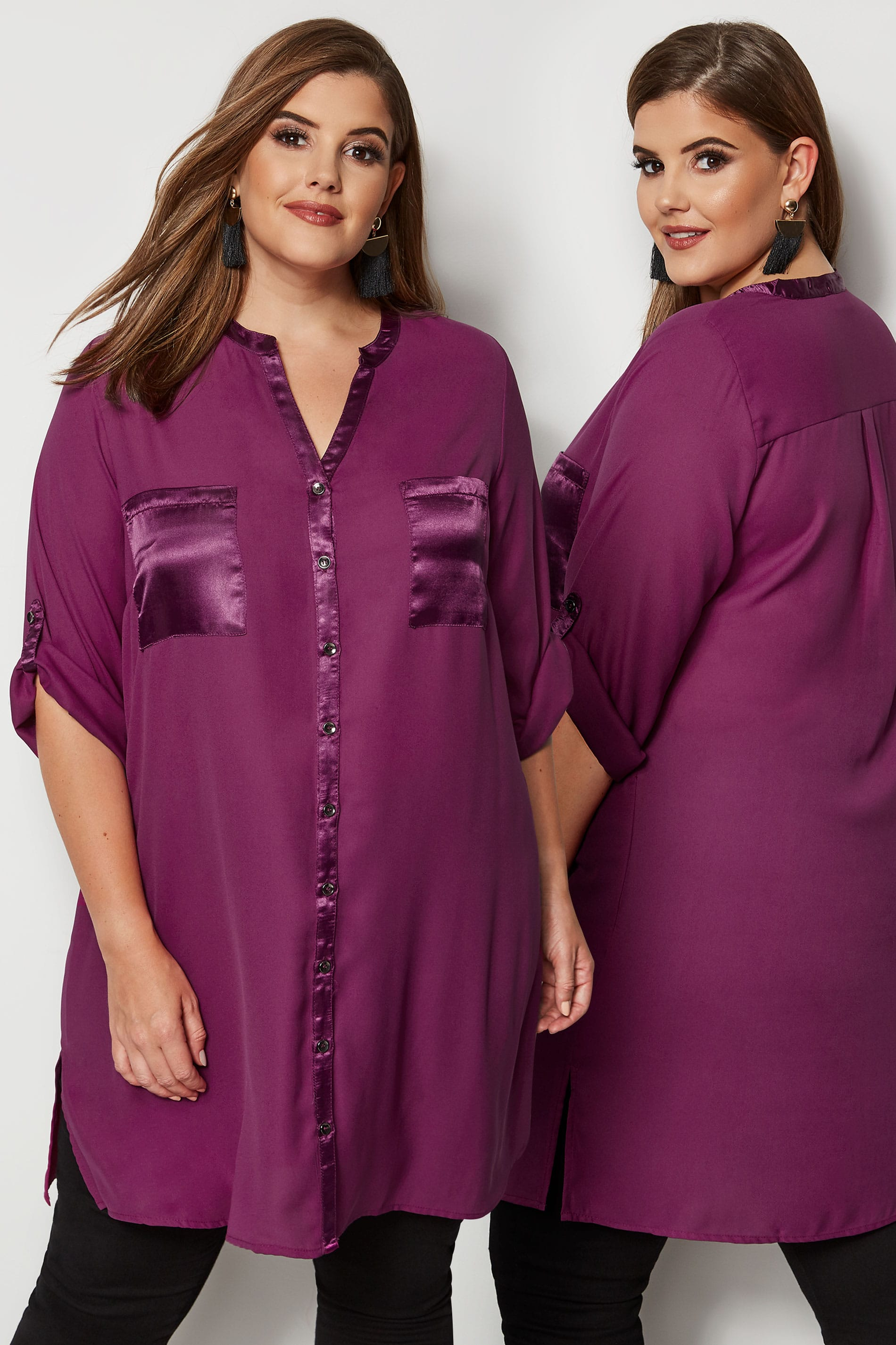how to fill out a letter yours lila chiffonbluse mit satinsaum gro 223 e gr 246 223 en 22295 | YOURS LONDON Purple Chiffon Blouse With Satin Trim 156564 d8fa