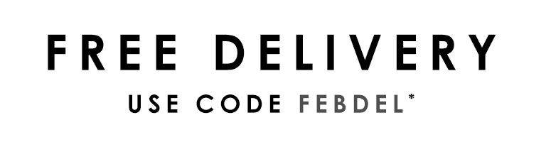 Free delivery - use code FEBDEL >