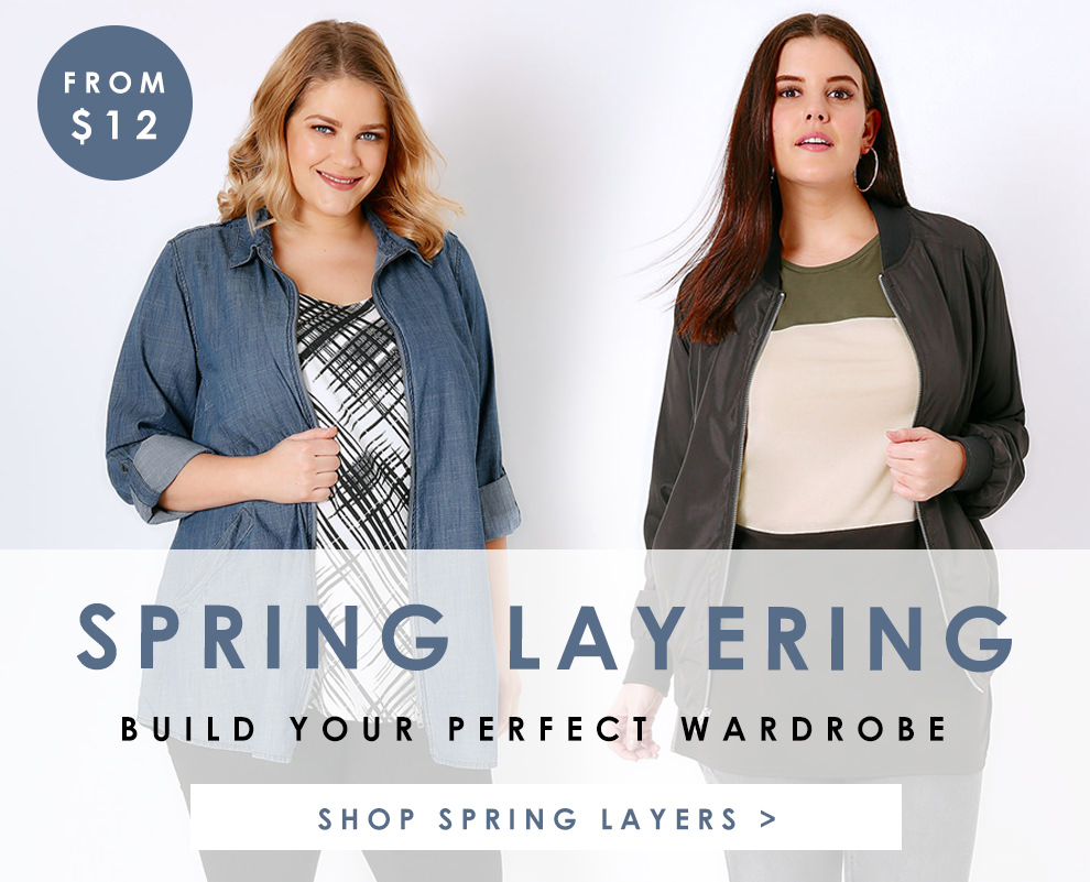 Spring Layering, Build you perfect wardrobe from $12 >