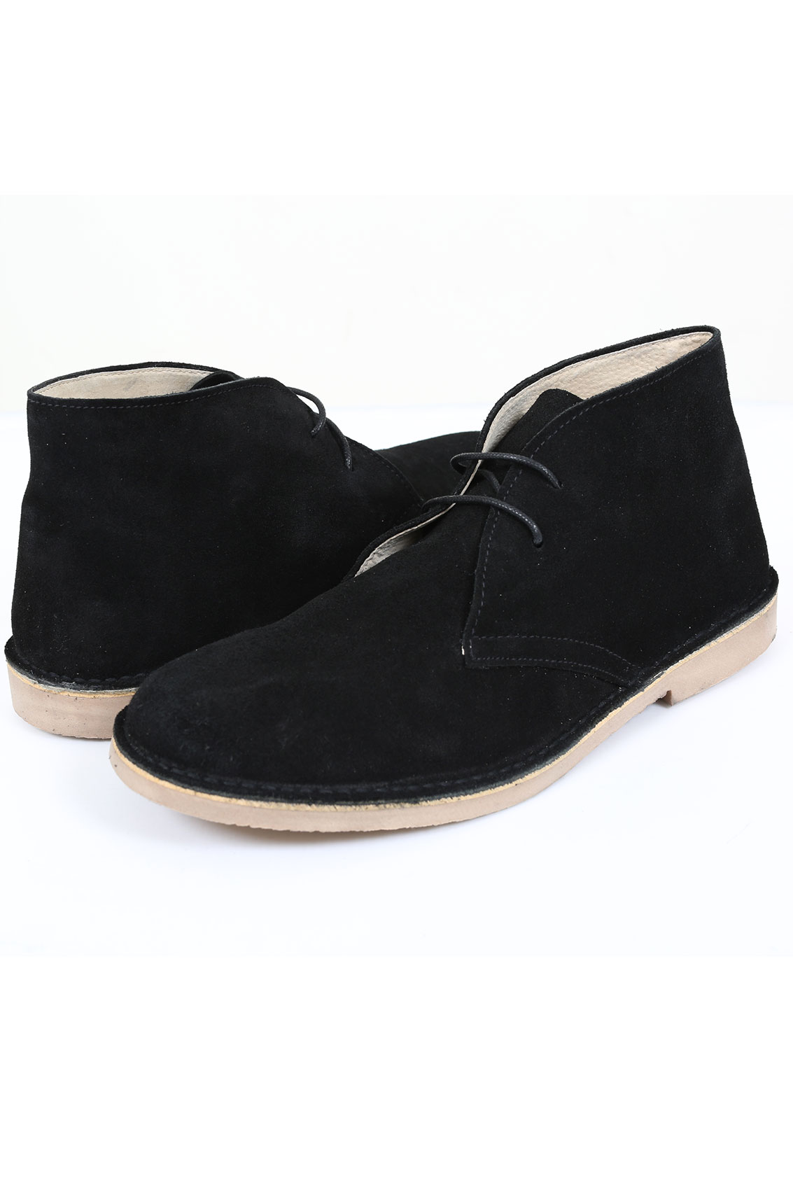black suede desert boot in wide fit