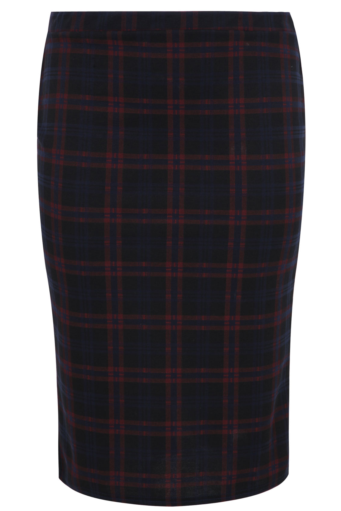 navy check print pencil skirt plus size 14 16 18 20