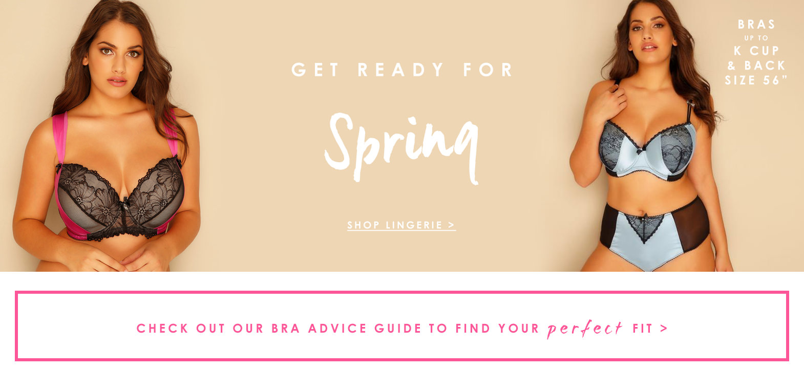 Get ready for spring, shop lingerie >