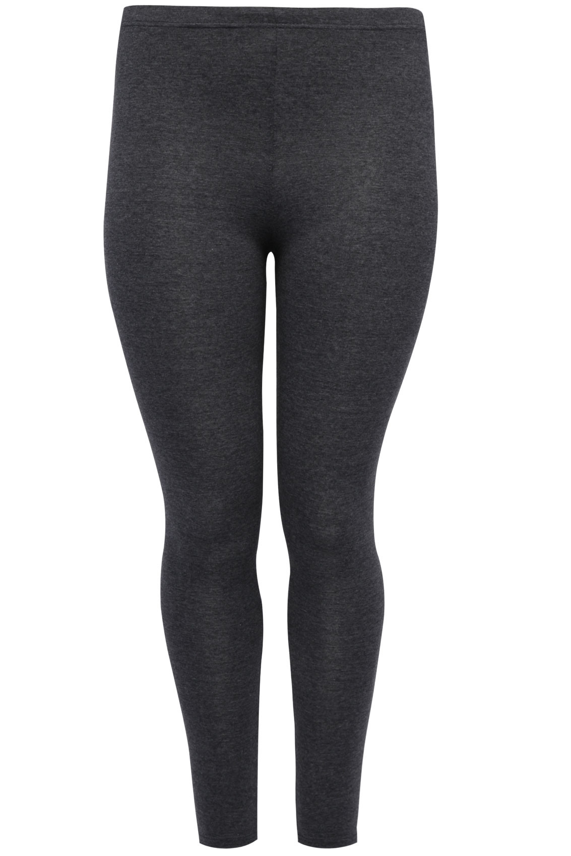 d1e02ecc2c Charcoal Grey Full Length Polyester Elastane Leggings plus Size 16 to 32