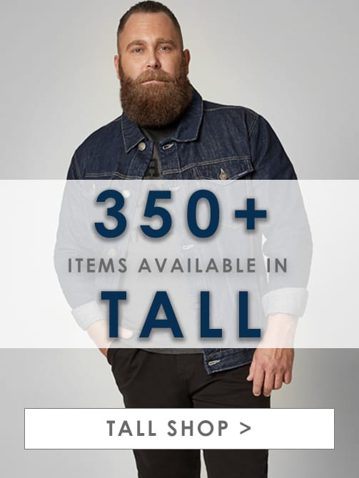 Shop Tall Men's Clothing >