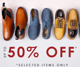 Up to 50% off footwear >