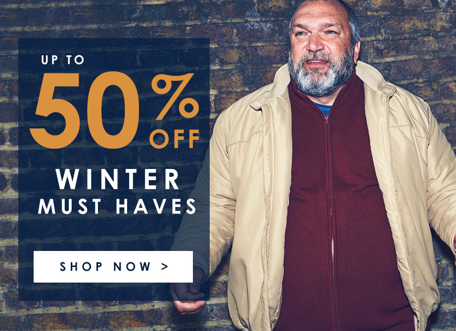 Up to 50% off winter must haves