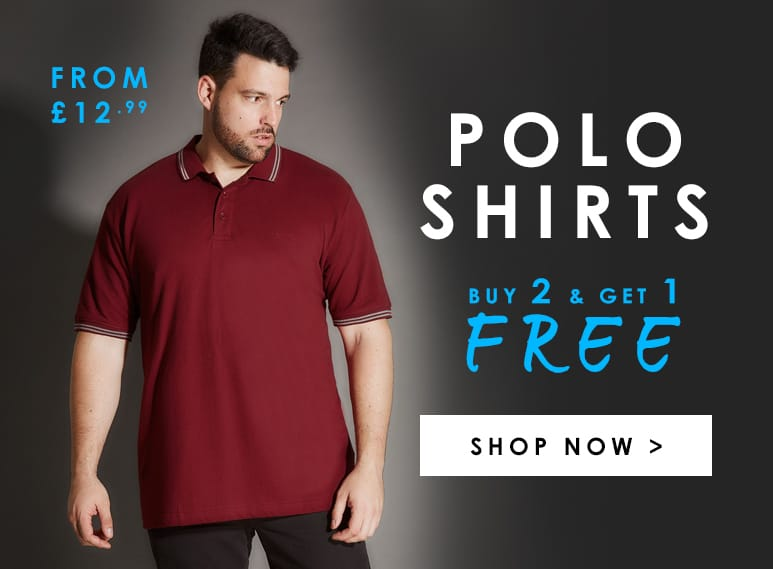 Buy 2 & Get 1 Free on all Polos >