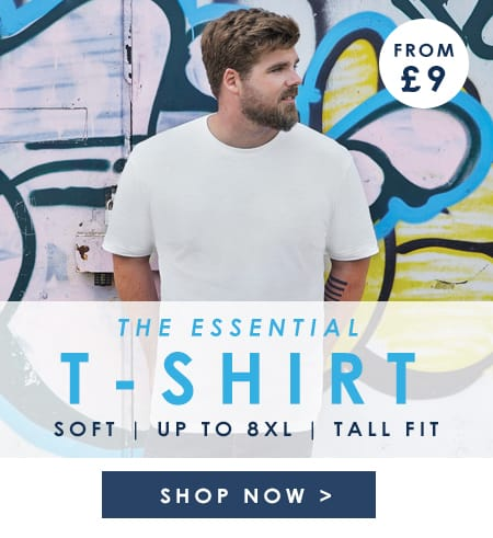 Essential t-shirts up to 8XL >